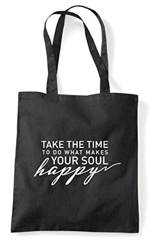 To Happy Your Take Black Time Do What Shopper Makes The Tote Soul Statement Bag qZEgZY6