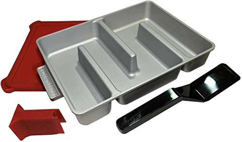 Bakers Edge - Edge Brownie Pan Complete Set - Includes Pan, Lid, Wedge, and Spatula