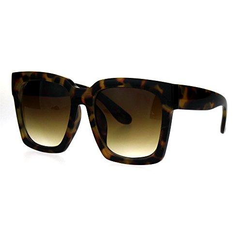 Womens Boyfriend Style Oversize Horned Rim Thick Plastic Sunglasses Tortoise - Tortoise Rim Glasses