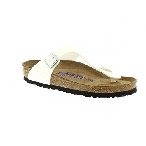 Birkenstock Gizeh Regular Fit - Magic Galaxy White 847471 (Man-Made) Womens Sandals 42 (Gizeh White Leather)
