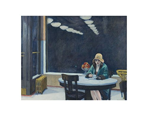 Automat, 1927 by Edward Hopper Painting Print -
