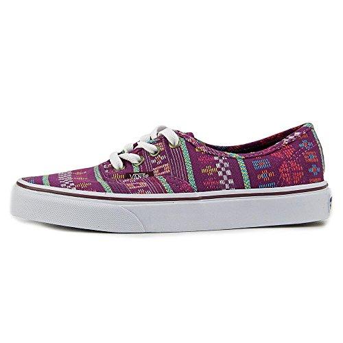 Vans-Authentic-Women-Round-Toe-Canvas-Multi-Color-Sneakers