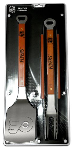 picture of NHL Philadelphia Flyers 3PC BBQ Set, Heavy Duty Stainless Steel Grilling Tools