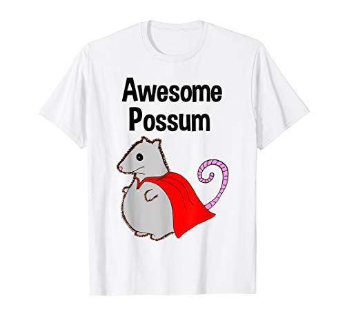 Possum White T-shirt - Awesome Possum Tshirt. Funny, Cute. Animal Lover Shirt