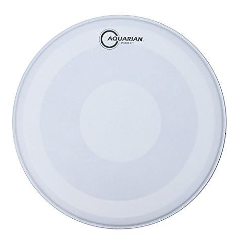 Aquarian Drumheads TCSXPD14 Studio-X 14-inch Tom Tom/Snare Drum Head, with Dot - Studio Aquarian 14