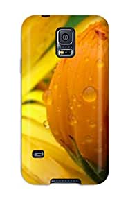 New JessicaBMcrae Super Strong Fall Flowers Tpu Case Cover For Galaxy S5