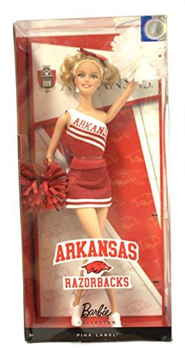 NCAA Licensed Arkansas Razorbacks Cheerleader Cheerleading Barbie