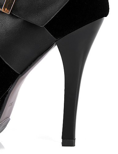 Punta Botas Vestido Tacón Fiesta Y Cn36 Black Mujer Uk6 Zapatos Black Noche La Eu36 De Redonda A Moda Uk4 Xzz Cerrada us8 Negro Stiletto Vellón Cn39 us6 Eu39 w7q8Xtx