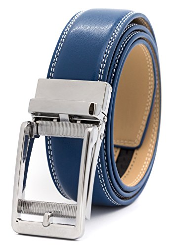 Fashion Belt Buckle - Men's Belt Ratchet Dress Belt with Automatic Buckle Brown/Black-Trim to Fit-35mm wide (Up to 36