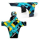 RideGuard Guardabarros Delantero PF1 Enduro para Bicicleta de montaña, Fabricado en el Reino Unido, Color Azul