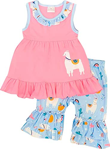 Boutique Little Girls Spring Easter Summer Lily Llama