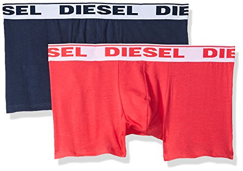 (Diesel Men's UMBX-Shawntwopack Boxer-Shorts Fresh and Bright, Navy/Red, M)
