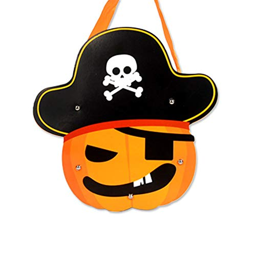 DierCosy 1pc Pirate Pieces Halloween Candy Totes Gift Bag Children's DIY Paper Halloween Trick Treat Bag Halloween Costume Party Halloween Decorations