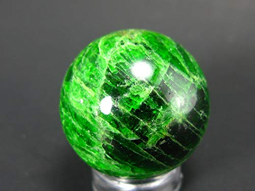 - Gem Chrome Diopside Ball Sphere From Russia - 1.0