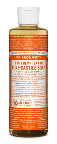 Dr. Bronner's Pure-Castile Liquid Soap - Tea Tree - 8 Oz