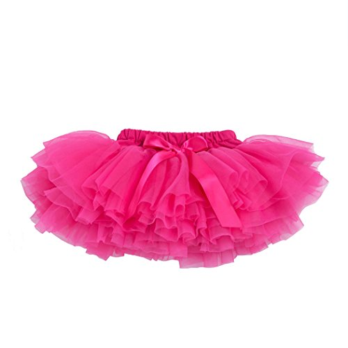 belababy Toddler Girl Fuchsia Tutu with PP Shorts Rose 24 (Tutu Rose Halloween)