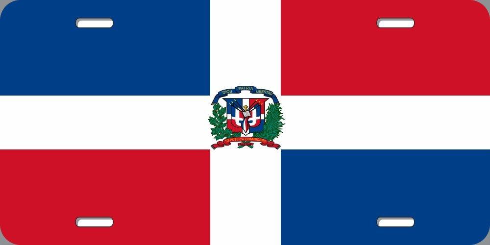 License Plate Frame Dominican Republic Flag Zinc Weatherproof Car Accessories