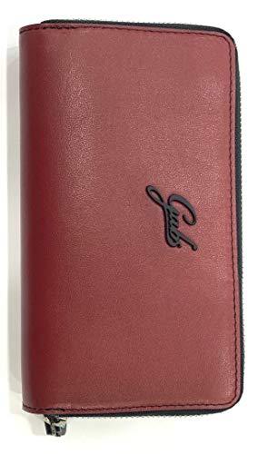 GABS - Cartera para Mujer Hombre Rojo Burdeos Media: Amazon ...