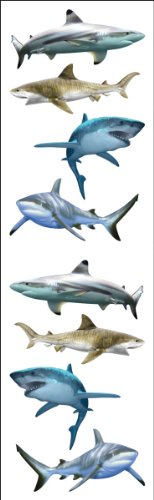 Mrs. Grossman's Stickers-Shark World -  Mrs Grossman, MG199-04383