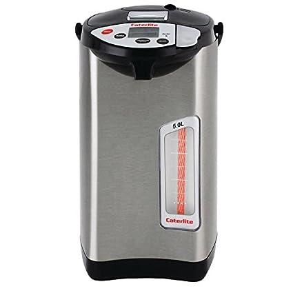Hervidor de agua eléctrico de Caterlite, de 5l, con 5 ajustes de temperatura y temporizador