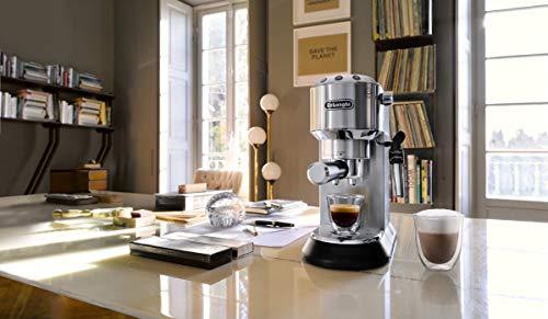 De'Longhi Dedica EC685.M Macchina da Caffè Espresso Manuale e Cappuccino, Caffè in Polvere o in Cialde E.S.E., 1350 W… 6