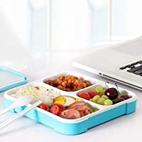 star work Kids Stainless Steel Insulated School Lunch Box for Kids and Teenager 3 Compartment