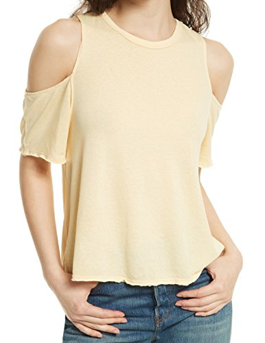 Free People Taurus Cold Shoulder Tee  Yellow  S