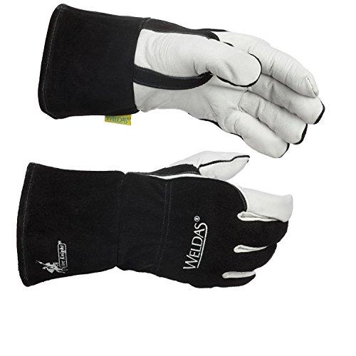 Weldas Arc Knight MIG/Stick Welding Glove - Kevlar Sewn - 100% Cotton Lining - Size XL by Weldas (Image #6)