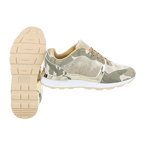 design Mode Ital G Baskets Sneakers Chaussures Femme Low Or Plat 103 Espadrilles Vert HqIwdIB