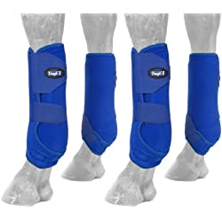Tough 1 Extreme Vented Sport Boots Set, Royal Blue, Medium