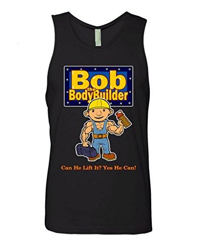 T Shirt Jerks Bob The Bodybuilder Unisex Tank Top (Black - Small) -