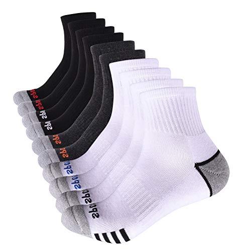 Cotton Slide - ARABINXIN Mens Cotton Low Cut Sport Casual Crew Ankle Non-Slide Socks,5 Pairs (Multicolor)