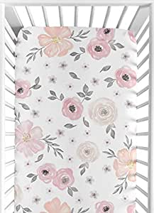 Amazon Com Sweet Jojo Designs Blush Pink Grey And White