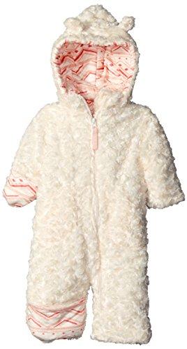 Jessica Simpson Baby Girls' Long Pile Faux Fur Pram, Snow White, 12 Months