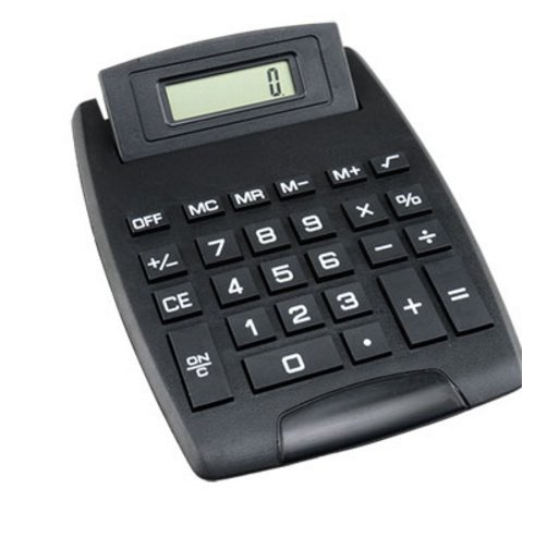 Large Display Desktop Calculator 8 Digit Electronic Standard Function Battery Operated Black