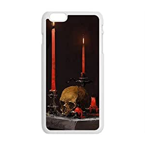 """Andre-case Candles and skull cell phone case cover for iPhone 6 XUgAFnv83Hh Plus """""""