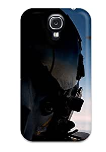 Galaxy S4 Case Cover - Slim Fit Protector Shock Absorbent Case (fighter Pilot)