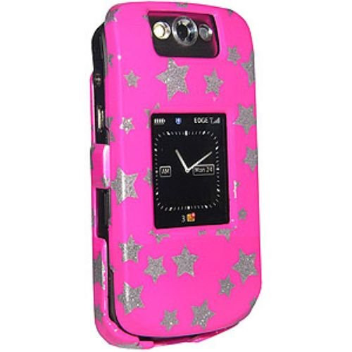 (Amzer Snap-On Crystal Hard Case for BlackBerry Pearl Flip 8220/8230 - Stars)