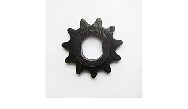 D-bore, use #25 chain 11 Tooth Sprocket 10mm for 100w 125w 150w 200w 250w 300w electric scooter motors