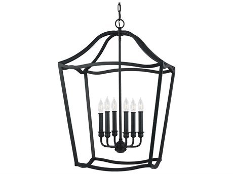 Feiss F2976/6AF Yarmouth 6 Light Antique Forged Iron Chandelier ()