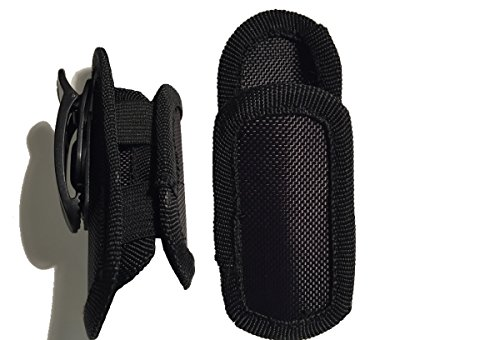 DAX Industries Universal Nylon Flashlight Holster For Belt, With Rotating Clip And Strectch Capability, Durable, Heavy Duty Pouch Flashlight Holder