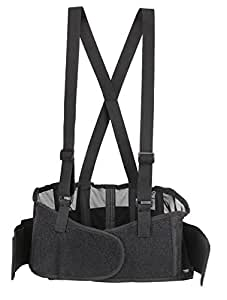 Back Brace Lumbar Support with Adjustable Suspenders, front Velcro for Easy and Quick Fastening, High Quality Breathable Back Panel made with Spandex Material, Removable Straps. (Size S)