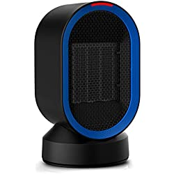 Ceramic Space Heater (UL Listed), Toyuugo Small Electric PTC Heater Portable Desk Fan Heater with Auto Shut Off, Auto-Oscillating, 2s Heat-up, Tip-Over and Overheat Protection for Home, Office, 600W