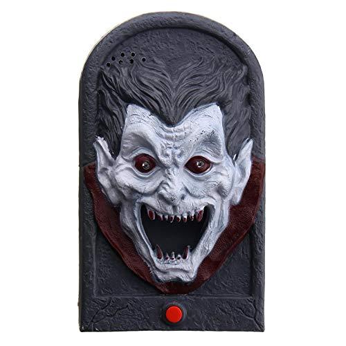 Halloween Party Home Decoration Illuminated Terror Skeleton Vampire Doorbell Horrid Scare Scene Toy - 001 ()