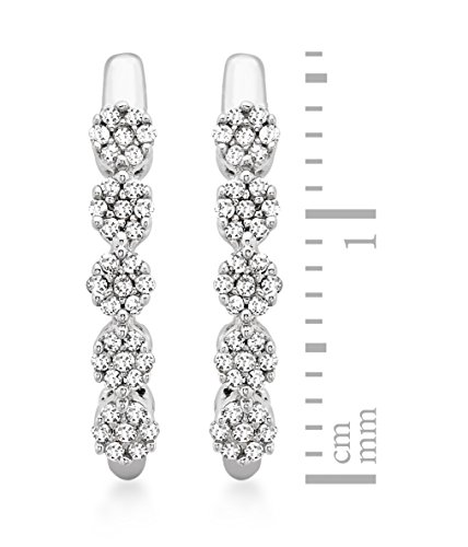 Carissima Gold - Boucles d'oreille - Femme - Or blanc (9 cts) 1.37 Gr - Diamant