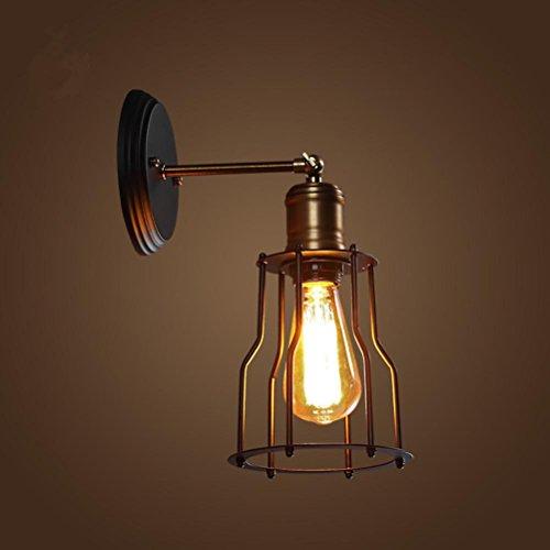 Cheap  Single headlights retro hallway living room outdoor waterproof balcony wrought iron lamp