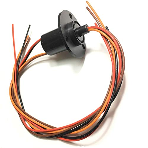 Taidacent 3 Wires 4 Wires 5A 10A 15A 30A Electrical Slip Ring Collector Ring Rotary Electrical Contact Joint Rotary Connector Commutator (4 Wires 10A Diameter 22mm)