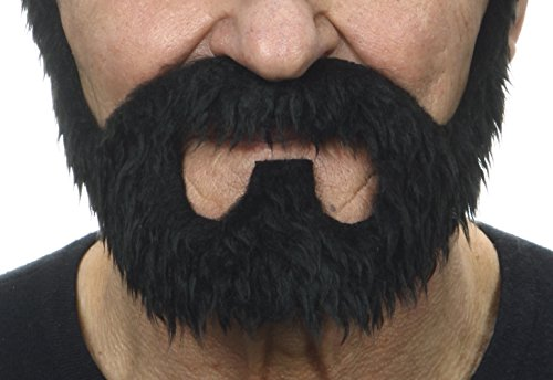 On bail black fake beard, self adhesive - Facial Hair Beard