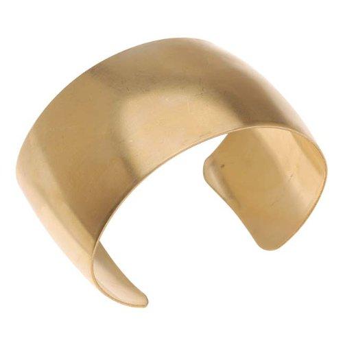 Solid Brass Domed Cuff Bracelet Base 37mm Wide (1 (Brass Cuff Bracelet)