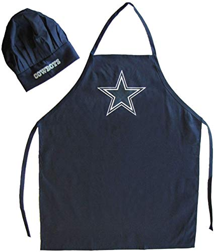 dallas cowboys apron and chef hat - 9